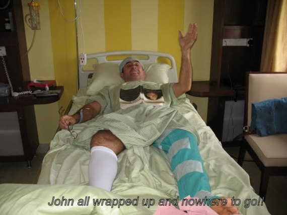 John all wrapped up and nowhere to go!!